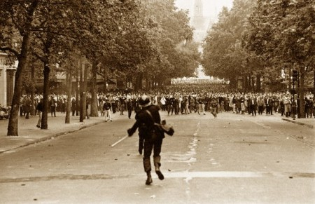 Police Use Tear Gas to Disperse Demonstrators in Paris, 1968