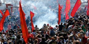 Φωτό από τις διαδηλώσεις στην πλατεία Ταξίμ