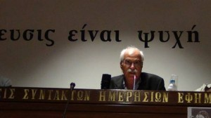 Ο πρόεδρος του ΔΣ του ΣΦΕΑ Νίκος Τριανταφύλλου